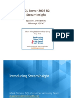 Microsoft StreamInsight May 2010