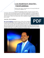 Key Things You Should Know About Rev. ChrisOyakhilome