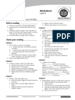 Cambridge English Readers Level5 Upper Intermediate Emergency Murder Worksheet