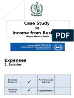 Case Study Income From Business