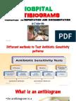 HOSPITAL ANTIBIOGRAMS principles  interpretation and documentation