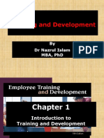 Chapter 1 Introduction to Training and Development 1.10.15