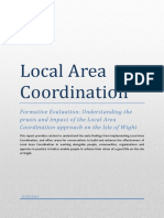 Local Area Coordination Evaluation Report