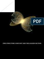 Fine Structure Constant and the Golden Section