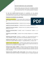 Parámetros de Restricción a Las Contraseñas