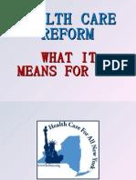 Healthcare Reform 2010 Final