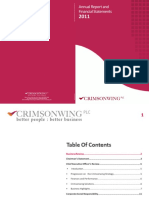 Crimsonwing PLC Annual Report 2011