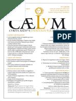 Praeconium Cursus Aestivi Latinitatis Vivae Matritensis Caelum 2016