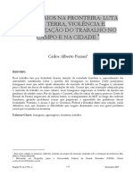 Artigo - Carlos Alberto Ferrari - Brasiguaios Na Fronteira. Luta