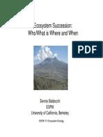 ESPM 111 Ecosystem Succession
