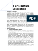 Rate of Moisture Absorption