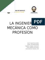 La Ingeniería Mecánica Como Profesión