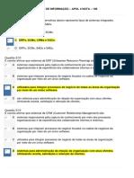 Fundamentos de Sistemas de Informação - Apol 4 - Nota 100