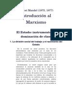 MANDEL. Introducción Al Marxismo. Sobre El Estado