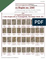 The Codex Regius Manuscript of the Poetic Edda