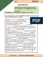 6to Grado - Español - Los Adjetivos