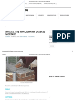 What is the Function of Sand in Mortar_ _ Civilblog