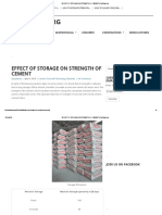 Effect of Storage on Strength of Cement _ Civilblog