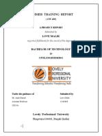 Summer Training Report Civil Engineering