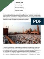 De la pénétration de l'Islam en Inde