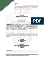 REGLAMENTO DE TRANSPORTE PUBLICO PARA EL MUNICIPIO DE TIJUANA BC.pdf