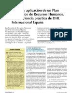 Diseño y Aplicación de Un Plan Estratégico de Recursos Humanos