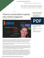 Chance Conversation Inspires New Online Magazine _ JSK