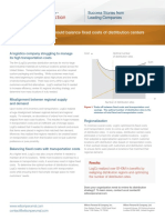 Insights to Action - Balancing Distribution Center & Transportation Costs