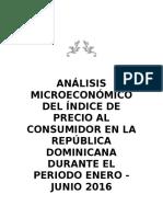Análisis Microeconómico Del Índice de Precio Al Consumidor en La República Dominicana Durante El Periodo Enero
