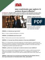 Entrevista a Rodolfo Llinás - 3 Mayo 2014