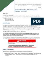 (REHS2505) VR6B Voltage Regulator Installation for 480V Sensing VR3 Regulators on 3500 Generator Sets