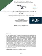 Conocimientos Metalingüísticos y Uso Correcto de La Tilde