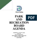 City of Dallas Parks and Recreation Board Agenda
