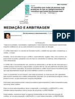MEDIAÇÃO E ARBITRAGEM - Artigos - Dinheiro - Administradores.pdf