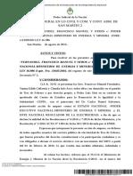 Resolución judicial que suspende el aumento a la energía eléctrica en la Argentina