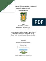 Evaluacion Paisajística Con Fines de Agroturisticos