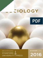 2016 Sociology Catalog