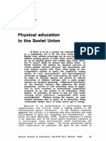 Physical Education in the Soviet Union