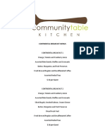 Community Table Menus