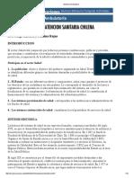 Organización de La Atención Sanitaria Chilena