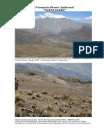 Prospecto Minero CANTACLARO