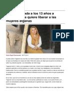 Sinpermiso-De Nina Casada a Los 13 Anos a Escritora Que Quiere Liberar a Las Mujeres Afganas -2016!08!01