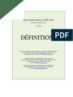 Alain - Définitions