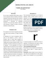 Paper de Teoria de Exponentes