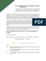 Metodología Para El Procesamiento Analítico Del Modelo de Diseño Experimental