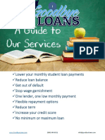 Goodbye Loans; A Guide To Our Services.
