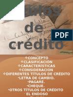 Titulos de Credito Curso Para Estudiantes