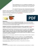 Classificação vitaminas