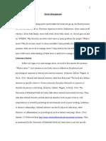 clinton valerio stress management paper