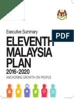 11th Malaysia Plan 2016-2020 Exec Summary BI